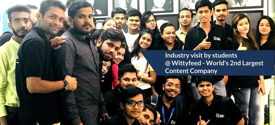 Digital Agency visit by students @ Wittyfeed - Worlds 2nd Largest Content Company