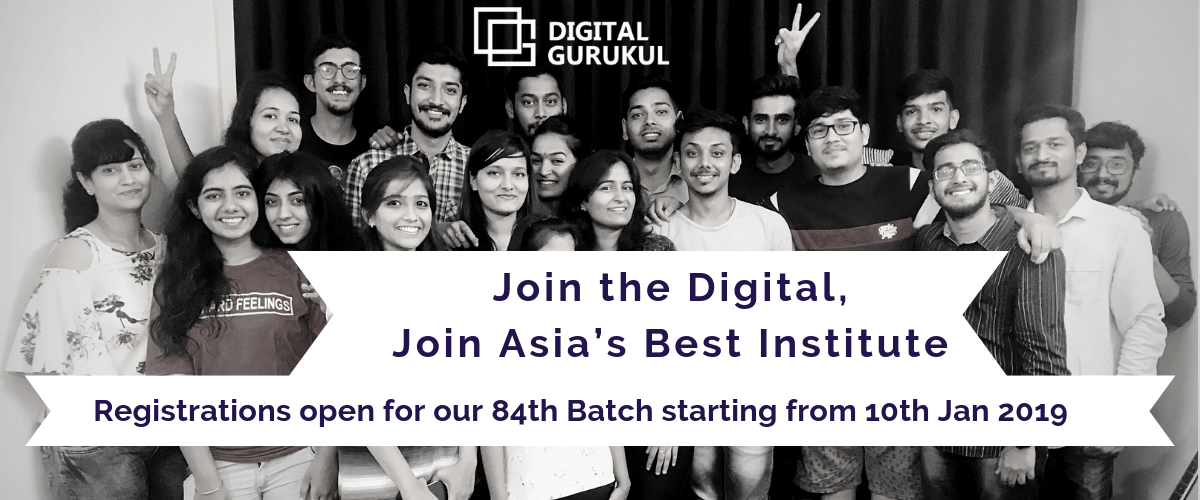 Registrations open for our 84th Batch starting from 10th Jan 2019
