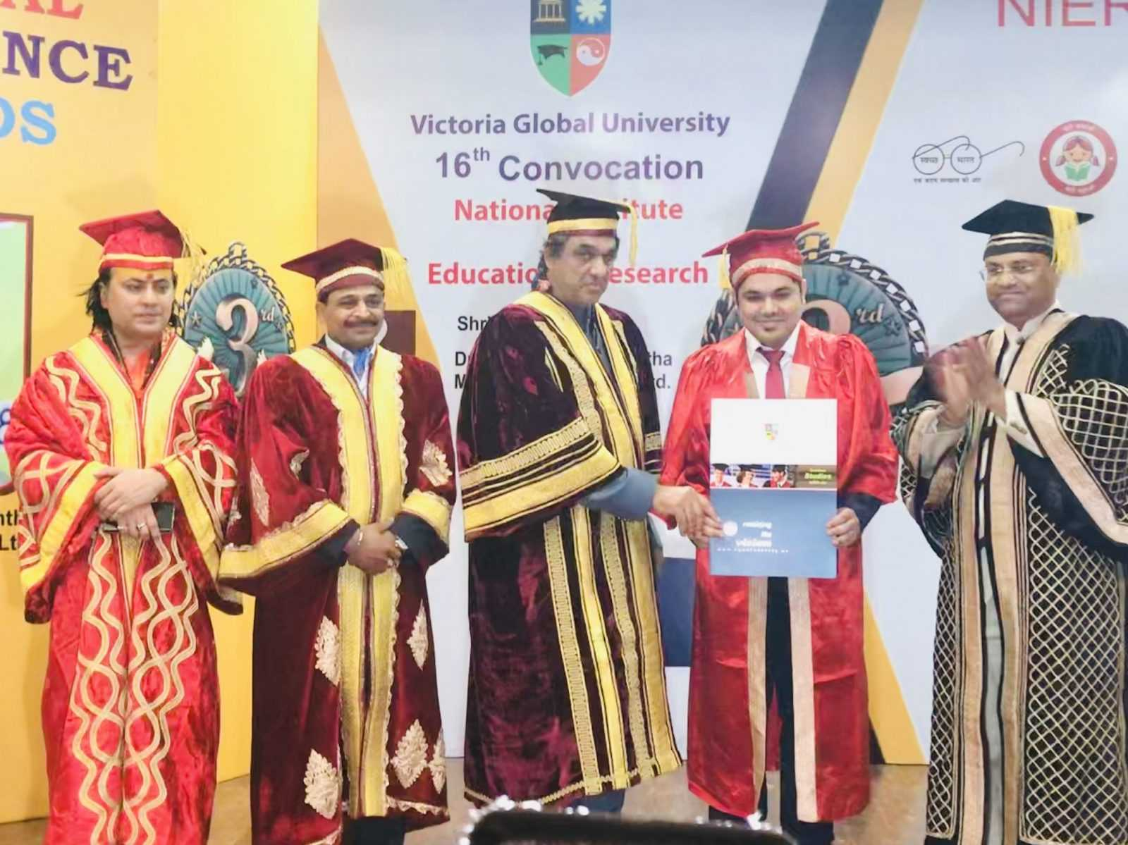 India's 1st Doctorate in Digital Marketing conferred to Mr. Raj Padhiyar by Victoria Global University, USA